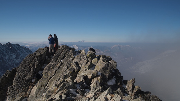 Kôprovský štít, vrchol deň 1